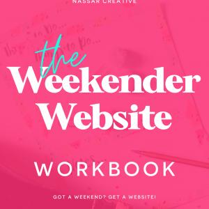 Weekender Website Cover. Build a quick website!